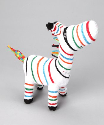 White Shima Zebra Plush Toy
