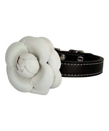 LazyBonezz Black Flower Collar