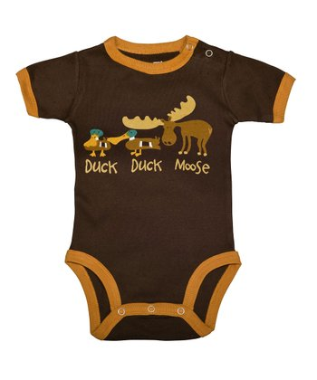 Brown 'Duck Duck Moose' Bodysuit - Infant