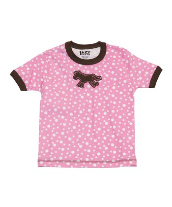 Pink Polka Dot Horse Tee - Toddler & Kids