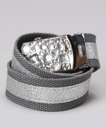 Gray Jewel Glamour Belt