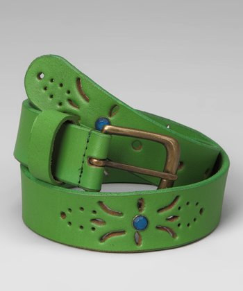 Green Flower Belt - Toddler & Girls