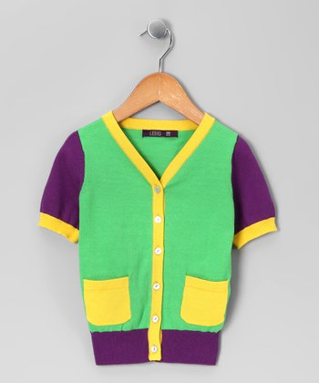 Green Cardigan - Infant, Toddler & Girls