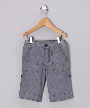Denim Chambray Shorts - Toddler