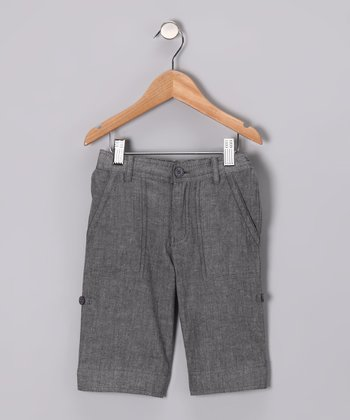 Gray Chambray Shorts - Boys