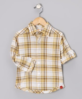 Yellow Plaid Button-Up - Toddler & Boys