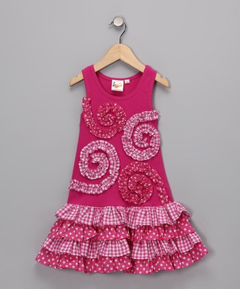 Pink Spiral Drop-Waist Dress - Infant & Toddler