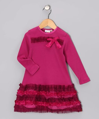 Berry Ruffle Dress - Toddler & Girls