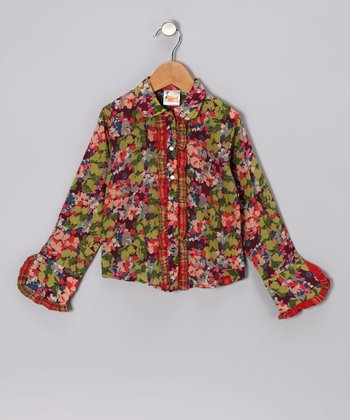 Passion Pansy Button-Up - Toddler & Girls