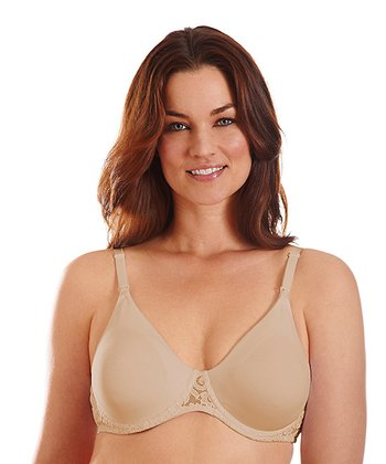 Nude Lace-Trim Underwire Nursing Bra - Women & Plus