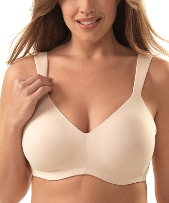 Nude Seamless Full-Coverage Wireless Bra - Plus