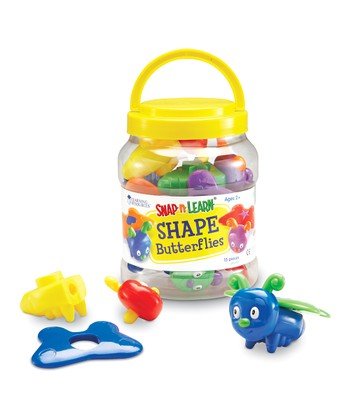 Shape Butterflies Snap 'n' Learn Set