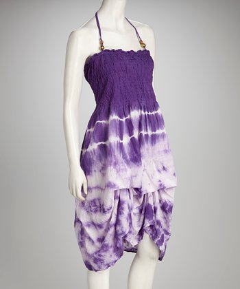 Purple Tie-Dye Dress