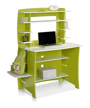 Legaré Lime & White Desk & Hutch