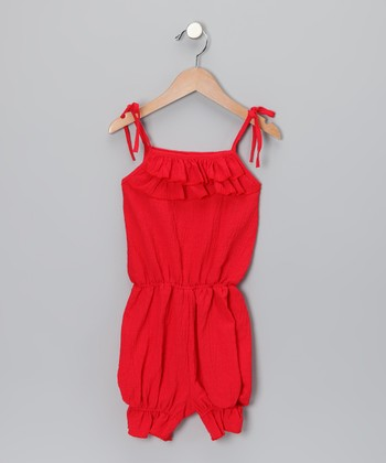 Red Ruffle Romper - Toddler & Girls