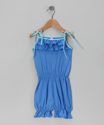 Blue Ruffle Romper - Toddler & Girls