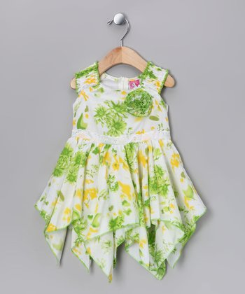 Green Handkerchief Dress - Infant & Toddler