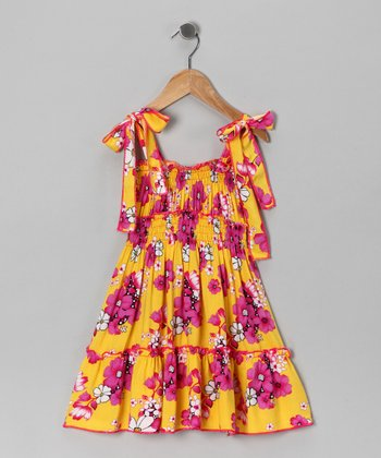 Lele for Kids Yellow Floral Dress - Toddler & Girls