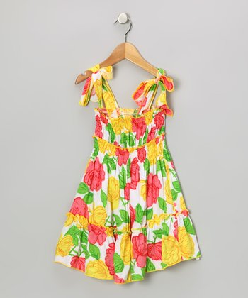 Yellow & Green Floral Sundress - Toddler & Girls