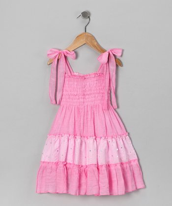 Pink Smocked Dress - Toddler & Girls