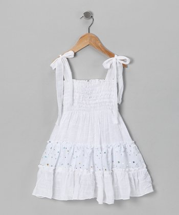 White Smocked Dress - Toddler & Girls