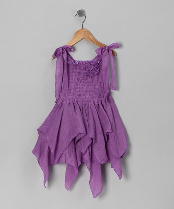 Lilac Handkerchief Dress - Toddler & Girls