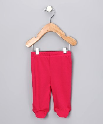 Leru Babies Fuchsia Organic Footie Pants - Infant