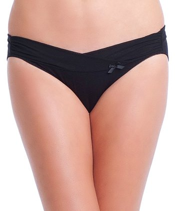 Black Alix Comfort Under-Belly Maternity Bikini Briefs - Women