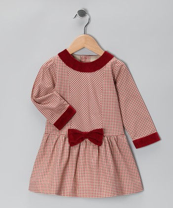 Red Gingham Bow Dress - Infant & Toddler