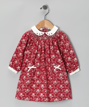 Red Rose Peter Pan Dress - Infant