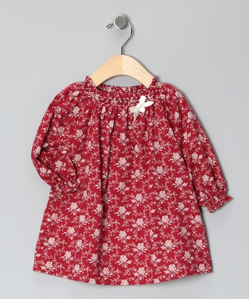 Red Rose Peasant Dress - Infant