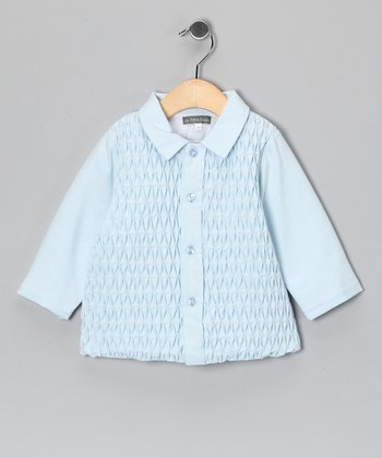 Blue Smocked Jacket - Infant