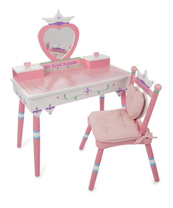'Her Royal Highness' Vanity & Chair Set