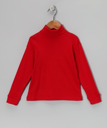 Red Turtleneck - Toddler & Girls