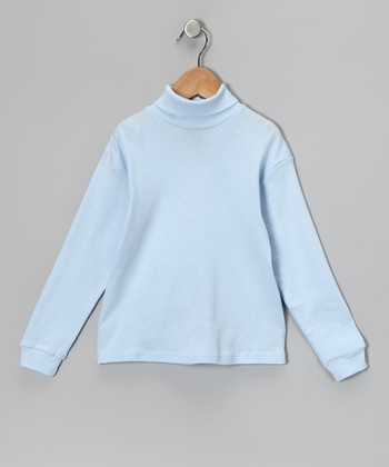 Light Blue Turtleneck - Toddler & Girls