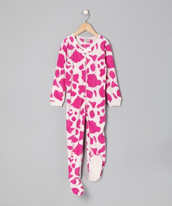 Pink Cow Footie - Infant
