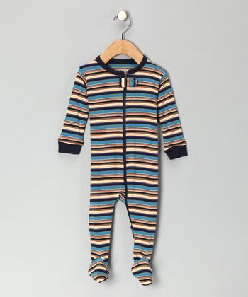 Blue Stripe Footie - Infant, Toddler & Kids