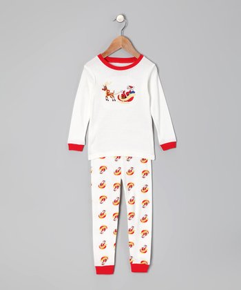 Red Santa Sleigh Pajama Set - Infant