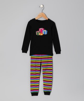 Black Gift Pajama Set - Infant