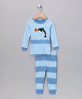 Blue Jumping Dolphin Pajama Set - Infant & Toddler