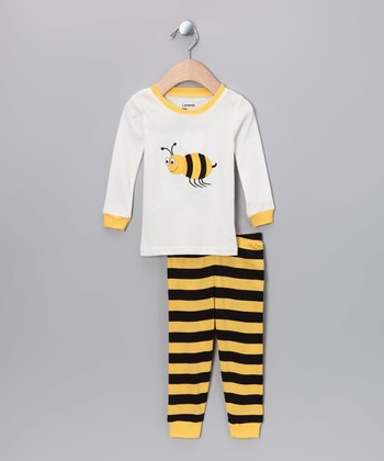 Black & Yellow Bumblebee Pajama Set - Toddler & Girls
