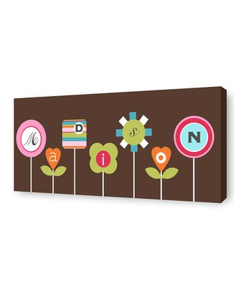 Cocoa Flora Personalized Canvas