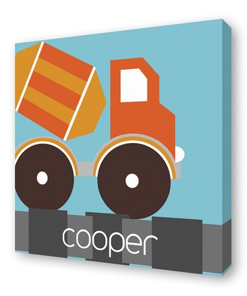 Orange Mixer Personalized Canvas Wall Art