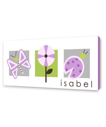 Lilac Summer Personalized Canvas Wall Art