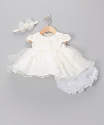 Ivory Floral Dress Set - Infant & Toddler