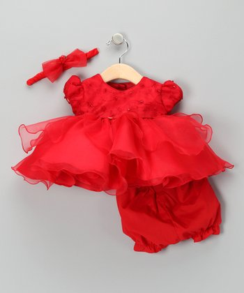 Lida Red Dress Set - Infant