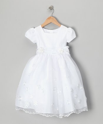 White Daisy Dress - Toddler & Girls