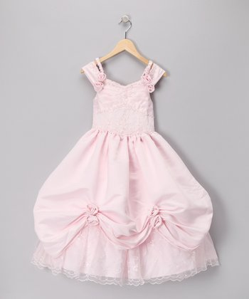 Pink Pick-Up Dress - Toddler & Girls