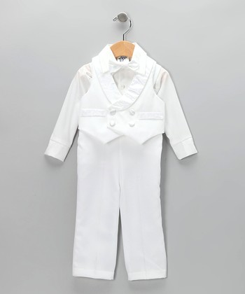 White Satin Vest Set - Infant, Toddler & Boys