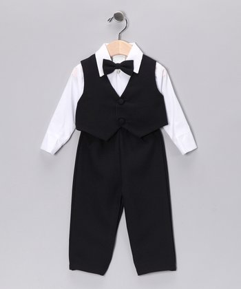Navy Four-Piece Vest Set - Infant